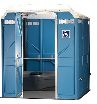 Rental portable toilets description size weight all for Porta john rental