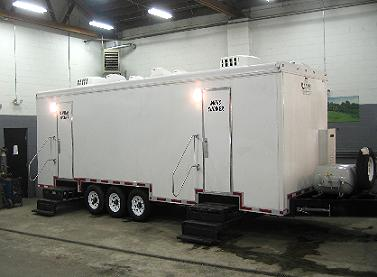 Shower Trailers Showers With Restroom For Rent All American - Bathroom trailer rentals