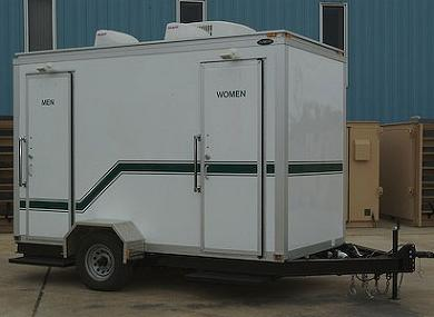 mobile restroom trailer portable toilet rentals for large crowds all american waste services